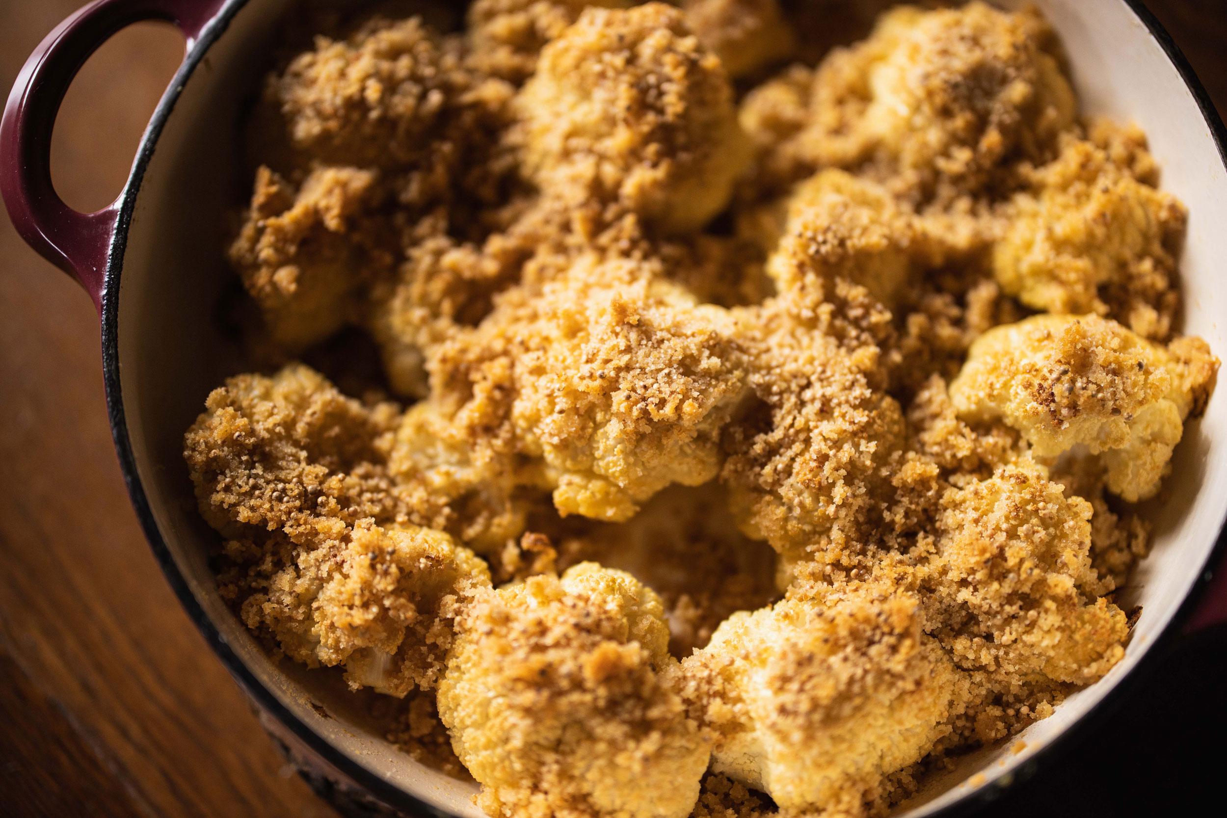 Karfiol mit Senf-Butterbröseln