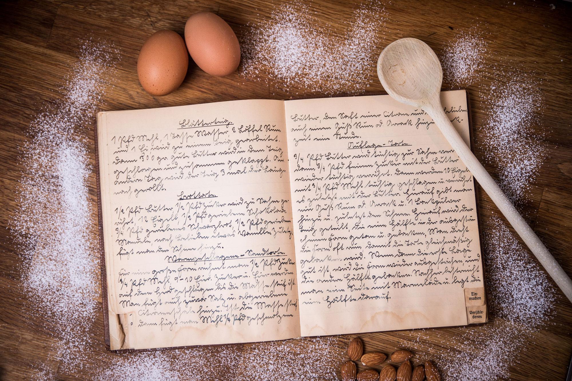 Altes Kochbuch, Sütterlin